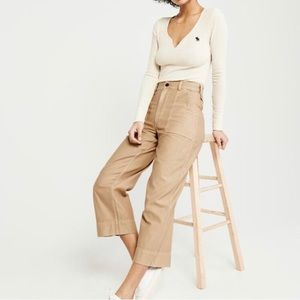 Abercrombie Cropped Wide-Leg Military Pants